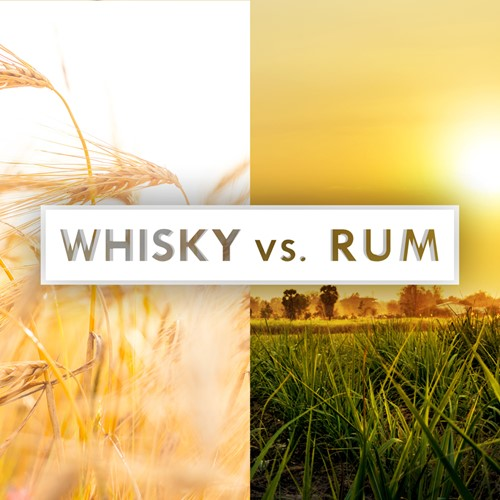 Square Whisky Vs Rum